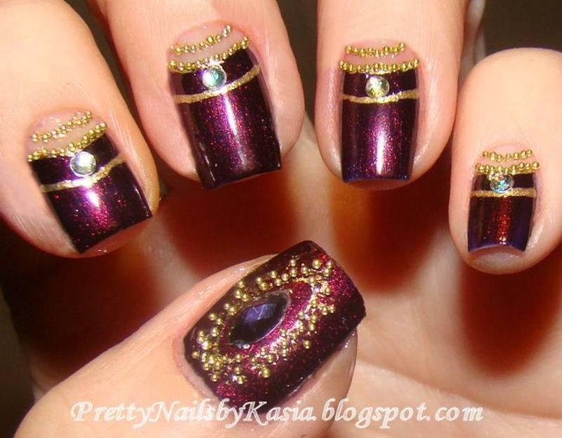 Bollywood Nails nail art by Pretty Nails by Kasia