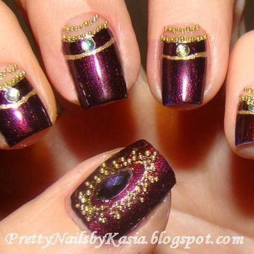Bollywood Nails nail art by Pretty Nails by Kasia