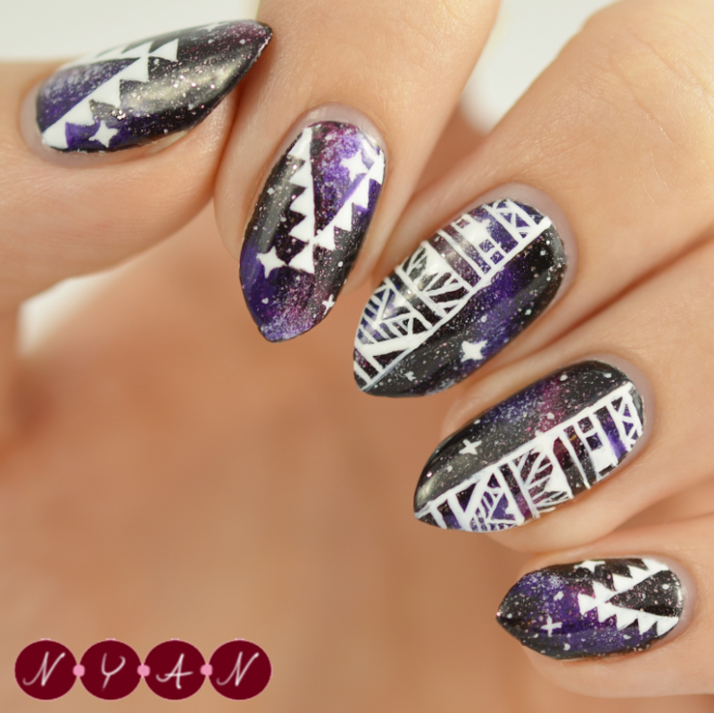 I Need Some (More) Space nail art by Becca (nyanails)