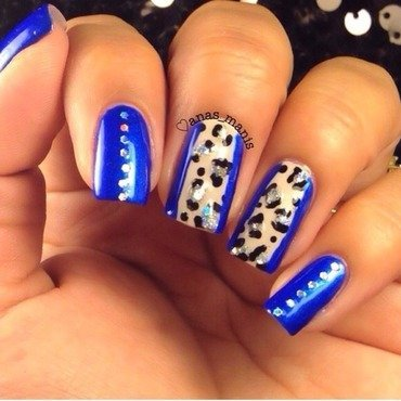 Leopard print nail art by anas_manis