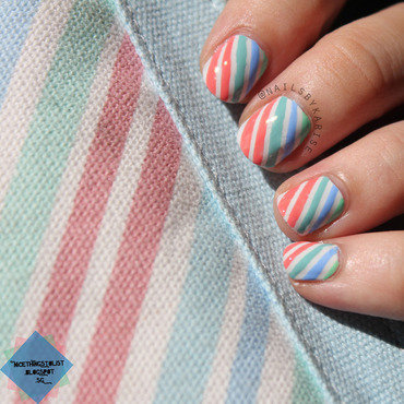 Kikki k inspired colorful stripes nail art thumb370f