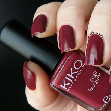 Kiko 364 Dark crimson Swatch by Ewlyn