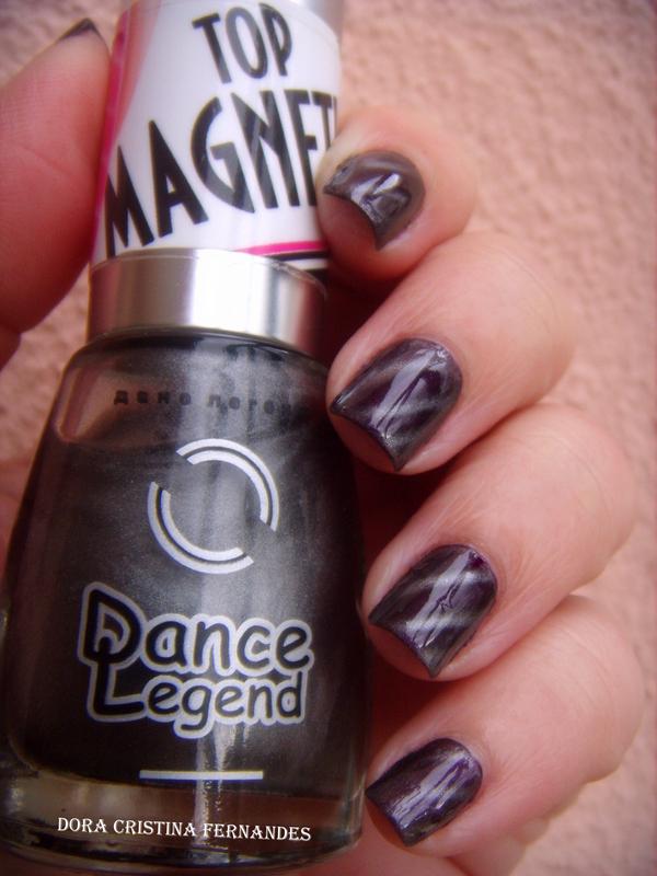 Just add Magnetic Top Coat.... nail art by Dora Cristina Fernandes