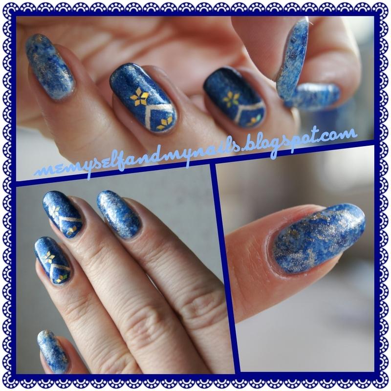Lapis lazuli nail art by ELIZA OK-W