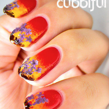 Fire gradient nails thumb370f