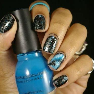 Icy Galaxy  nail art by Fatimah