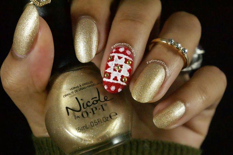 Winter Sweater  nail art by Fatimah