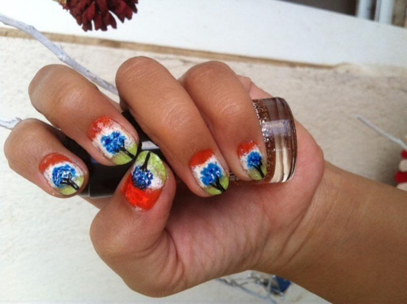 Republic day nail art by Ruchi