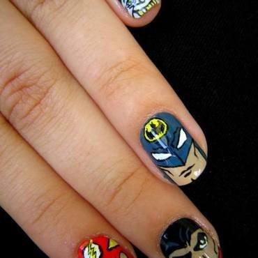 SUPERHEROES nail art by Boglarka Tornai