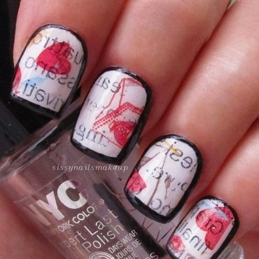 Vintage newspaper nails nail art by sissynailsmakeup