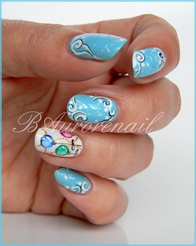 Boules de Noël nail art by BAurorenail