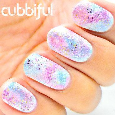 Glitter galaxy nails thumb370f