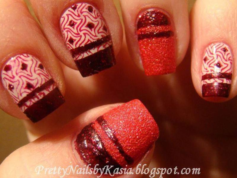 Red Nails nail art by Pretty Nails by Kasia