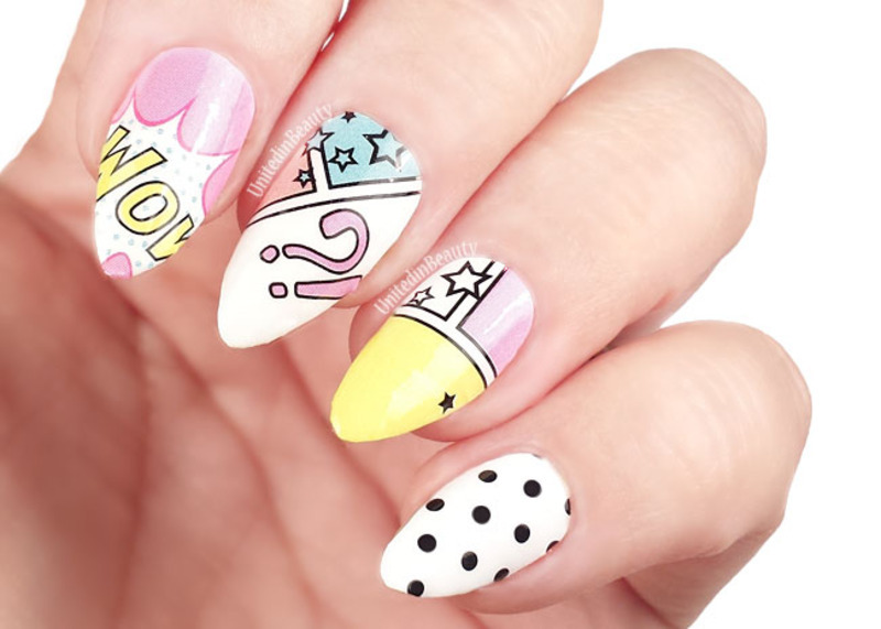 Pop Art Manicure Nail Art By Omgnailstrips Nailpolis Museum Of