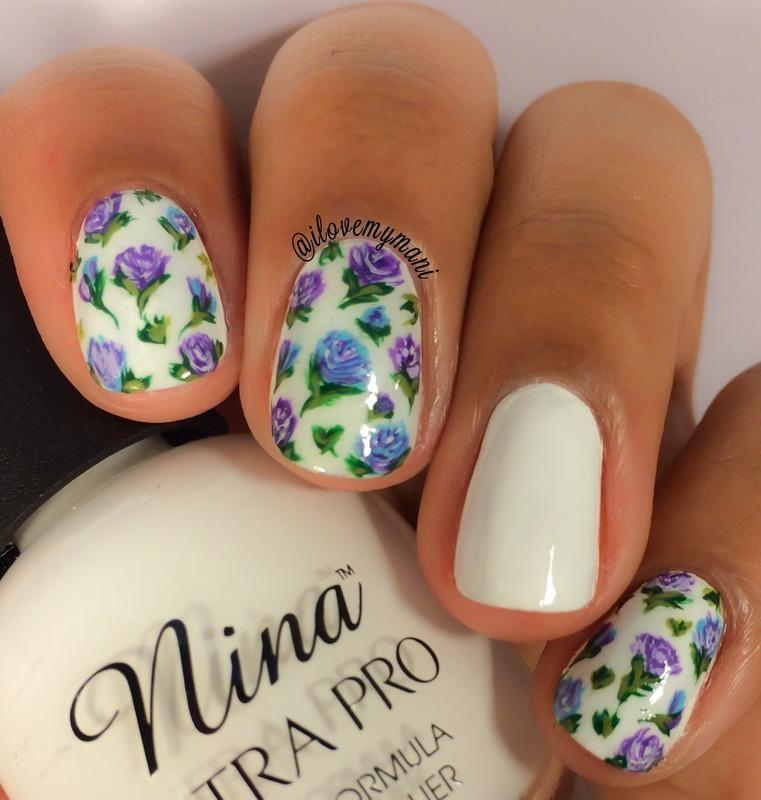 Floral nail art nail art by Gabrielle