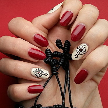 Gothic Cross nail art by Mgielka M
