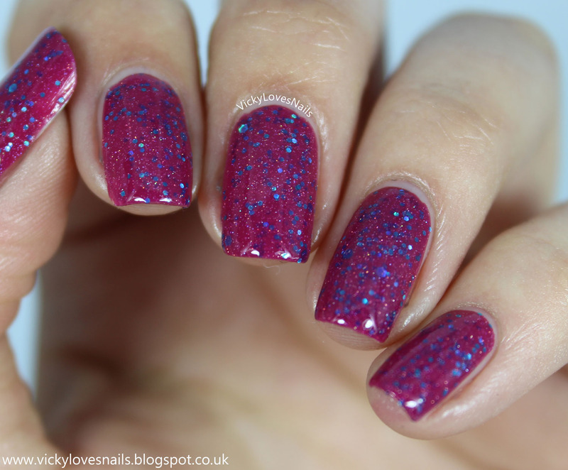 Freckles Polish Crazy Kinda Love Swatch by Vicky Standage