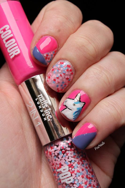 Birthady unicorn nails nail art by Fran Nails