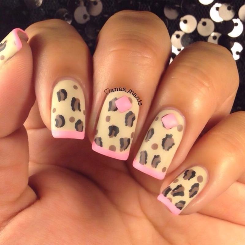 Matte leopard print nails nail art by anas_manis