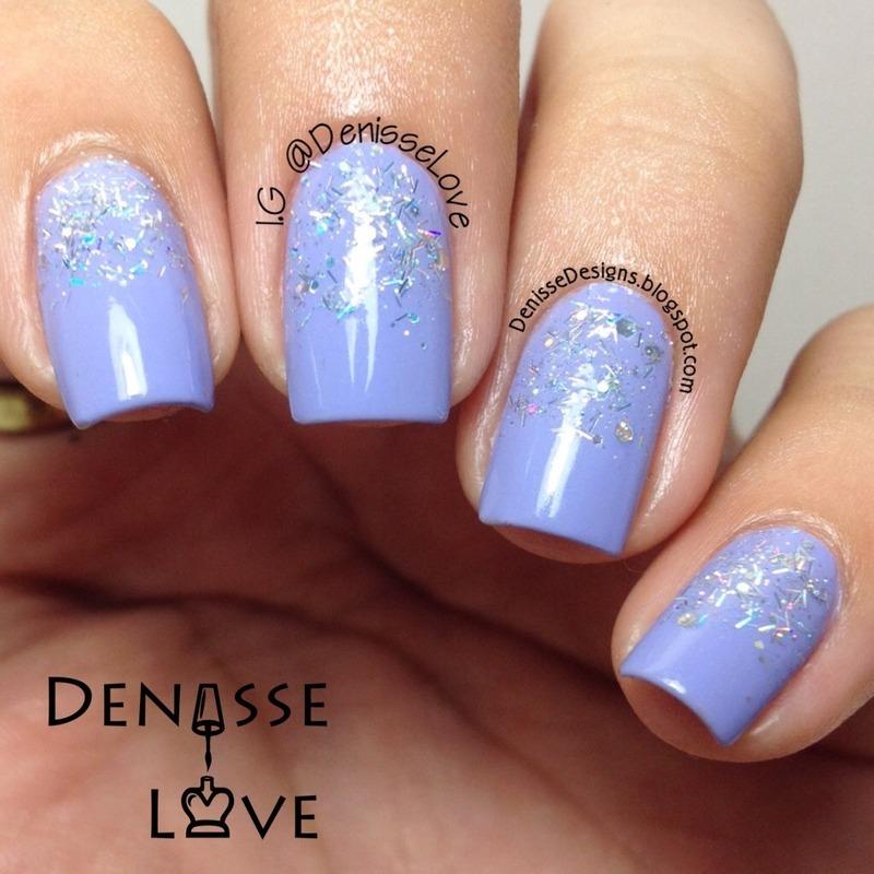 Glitter Gradient  nail art by Denisse Love