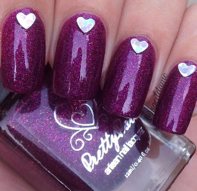 Pretty Pots Polish Divine Magenta Swatch by Sparkly Nails by Spejldame