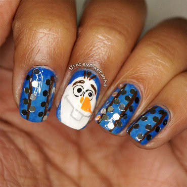 OLAF NAilart nail art by Stacey  Castanha