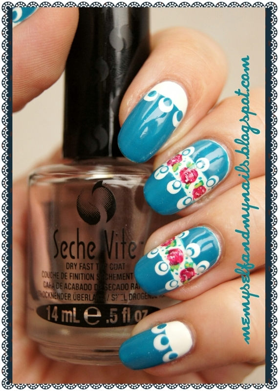 Flower-tied nail art by ELIZA OK-W