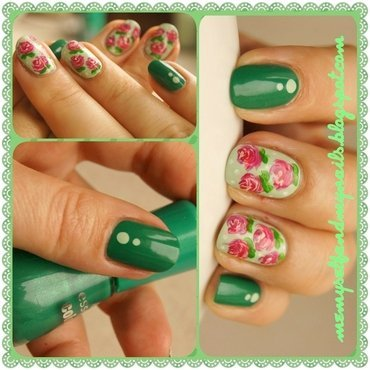 In the summer garden nail art by ELIZA OK-W