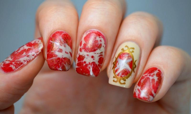 Royal crest nail art by Furious Filer