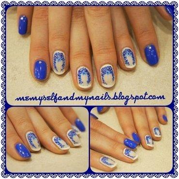 Porcelain II nail art by ELIZA OK-W