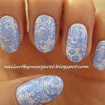 Koronkowe nail art by Margaret Nail Art