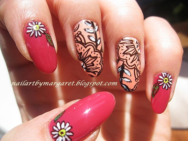 Wiosennie :) nail art by Margaret Nail Art