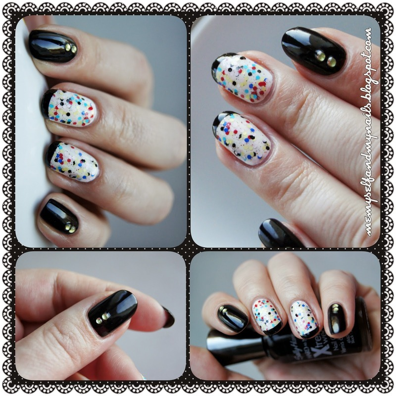 Confetti nail art by ELIZA OK-W