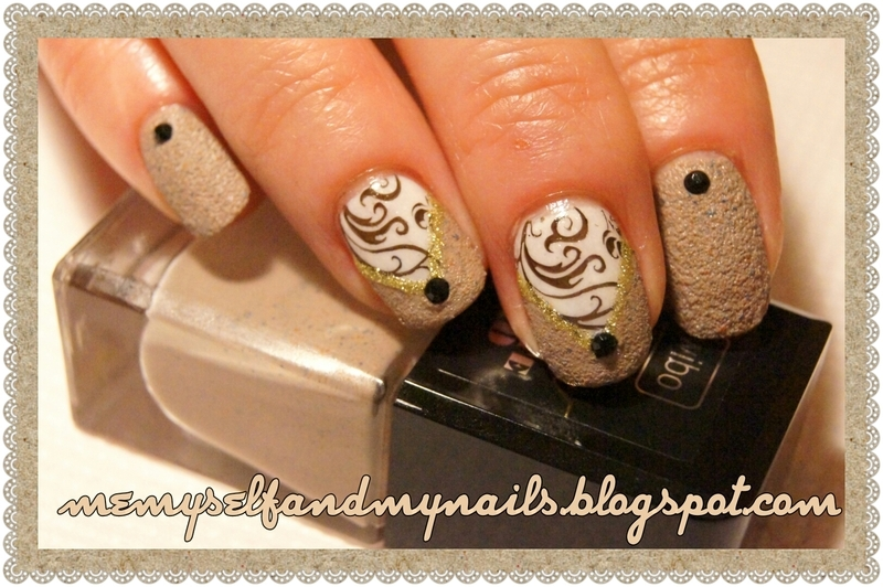 Under the sand nail art by ELIZA OK-W