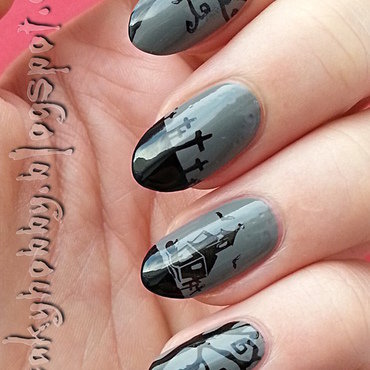 A Bit Creepy nail art by Mgielka M