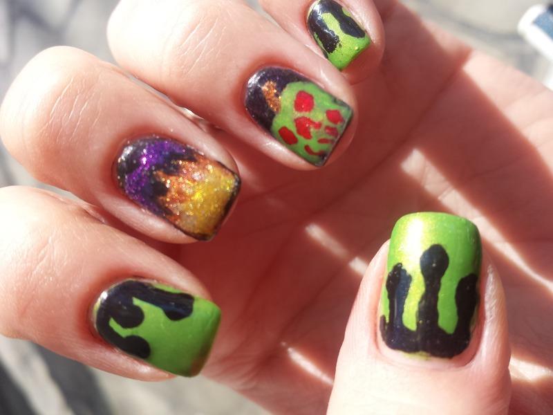 Evil Queen Inspired Mani nail art by Stefani aka Fefa - Nailpolis ...
