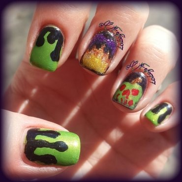 Evil Queen Inspired Mani nail art by Stefani aka Fefa