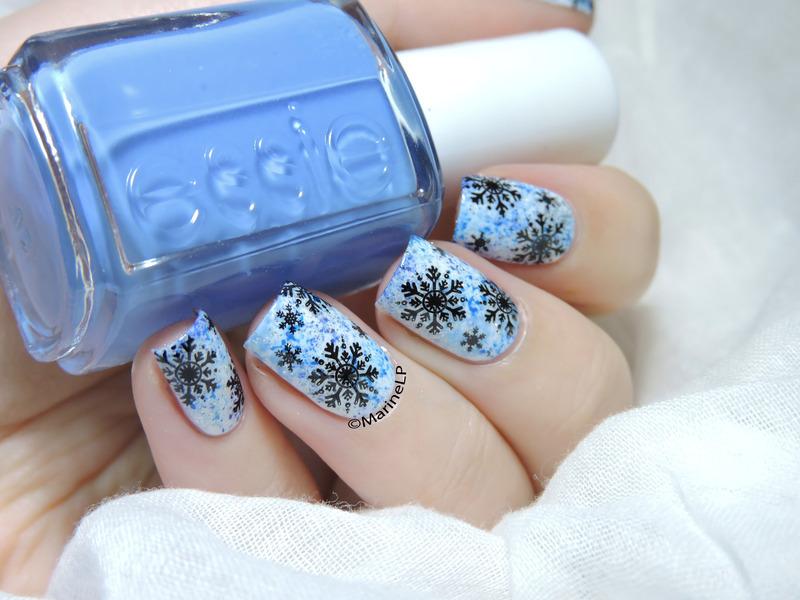 Let it snow nail art by Marine Loves Polish