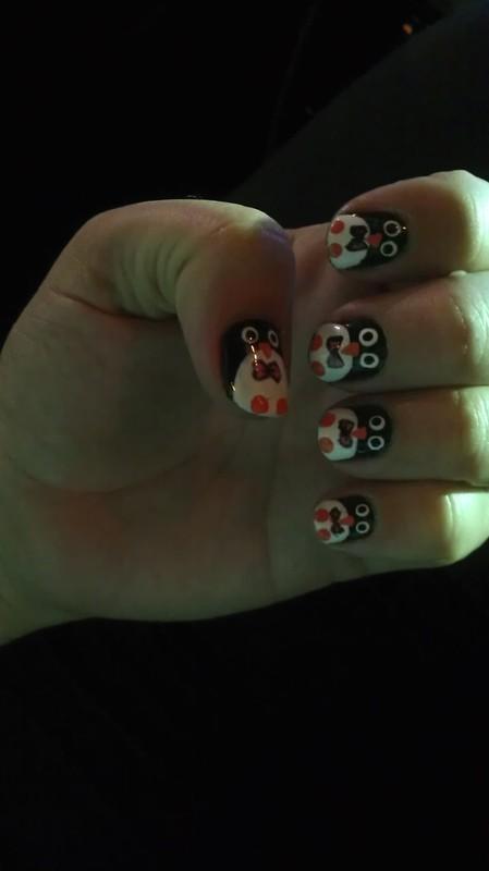 Penguins nail art by Jamilla