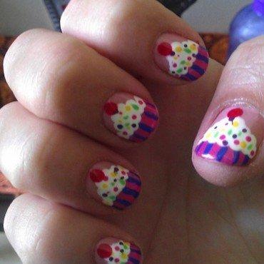Yummy cupcakes  nail art by Jamilla