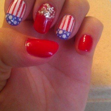 4th of July nails  nail art by Jamilla