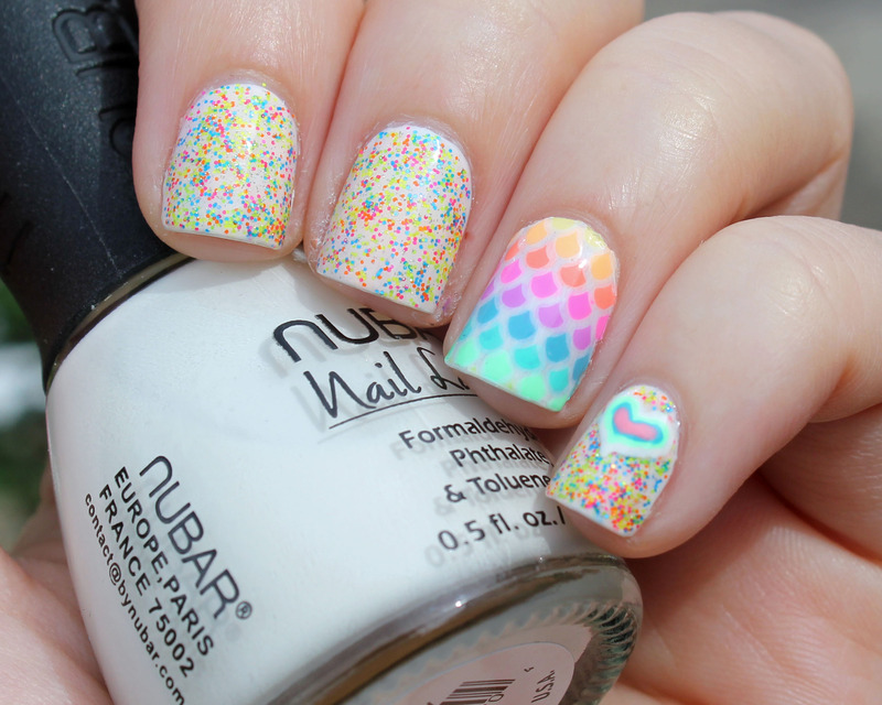 Neon Scales nail art by Moriesnailart