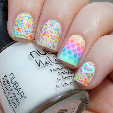 Neon Scales nail art by Moriesnailart