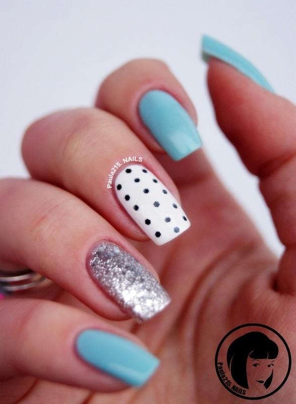 Mint&Dots. nail art by Paula215. NAILS