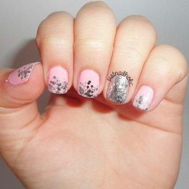 Princess Gradient nail art by Melany Antelo