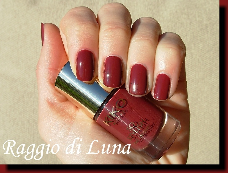Kiko So Stylish Nail Lacquer n° 005 Garnet Red Swatch by Tanja