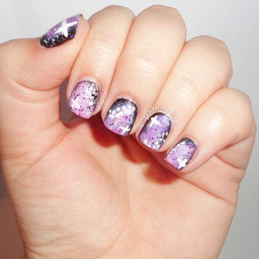 Galaxy!! nail art by Melany Antelo