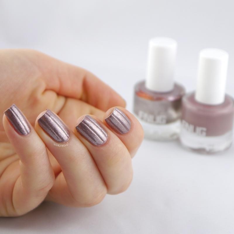 Metal Stripes FNUG nail art by Ann-Kristin