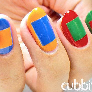 Simultaneous Contrast Nail Art  nail art by Cubbiful