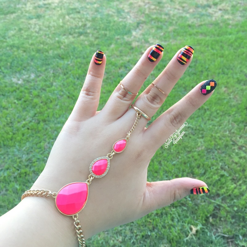 Accesorized and polished 💅 nail art by Jonna Dee